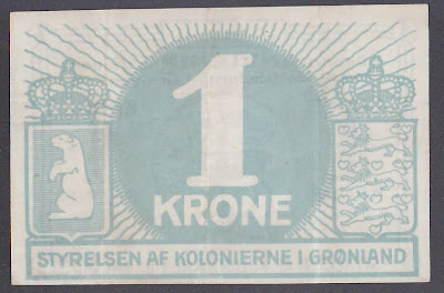 Currency Paper Money GREENLAND 1 Krone