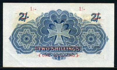 Malta bank notes Shilling
