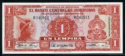Lempira Honduras banknotes currency Notafilia Numismática BILLETE collecting paper money