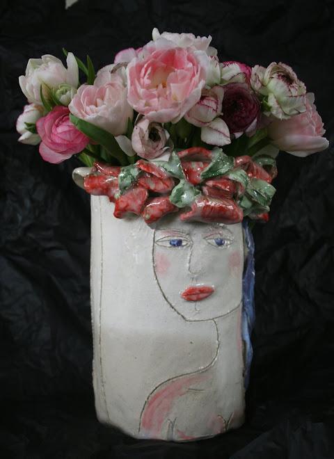 Vase Femme Fleur