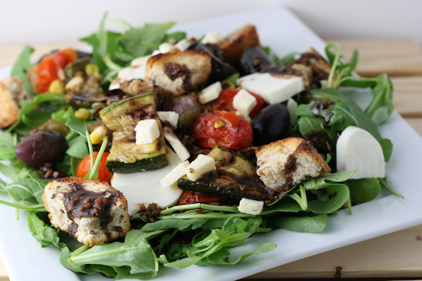 Grilled Vegetable Panzanella with Balsamic Vinaigrette - Coastal ...
