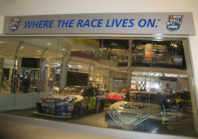 New tour takes you to nascar hall followed by visits to for Charlotte motor speedway museum