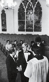 Reverend Troy Perry of the Metropolitan Community Church conducting a same-sex marriage ceremony. Life Magazine Dec. 31, 1971, p. 70.