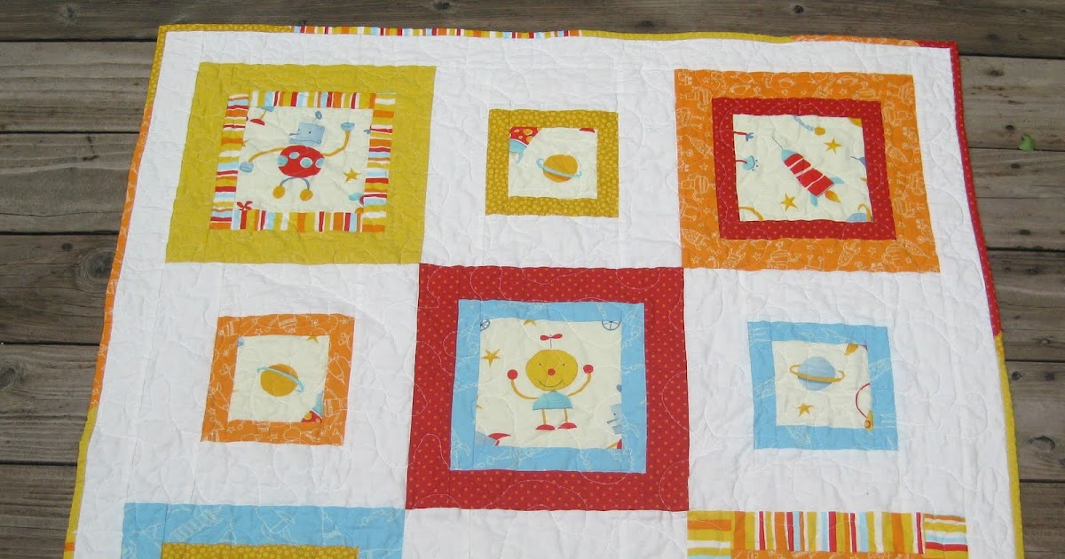 Teaginny designs robot quilt tutorial for Robot quilt fabric
