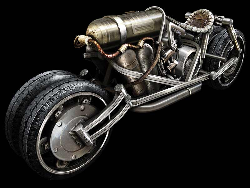 Steampunk Bike — polycount