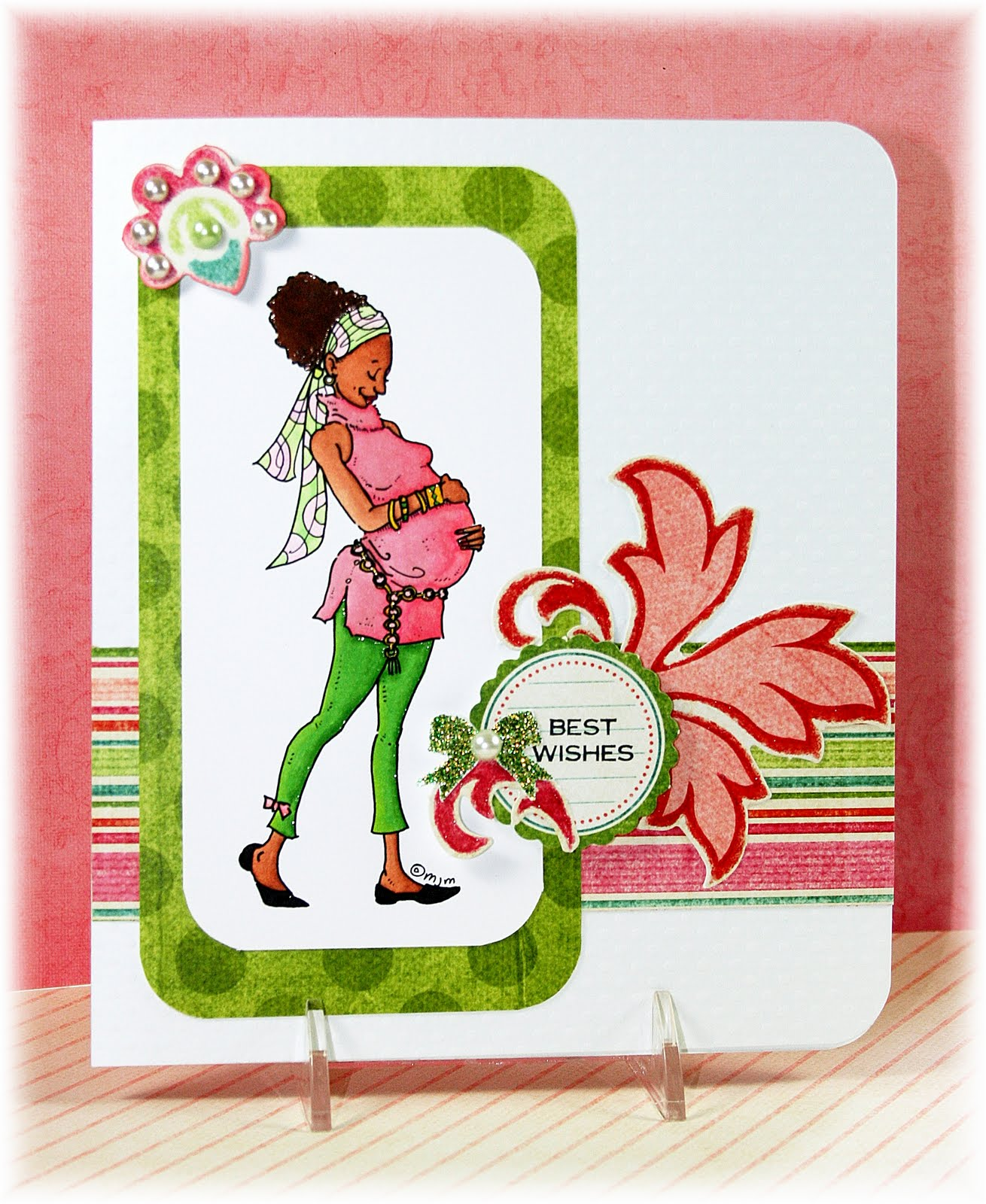 Designs By Robin Best Wishes Baby Shower Card