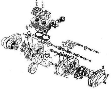 Двигатель ява 638 схема