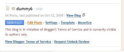 Locked Blog