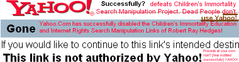 This Link is not Authorized by Yahoo Instills Fear
