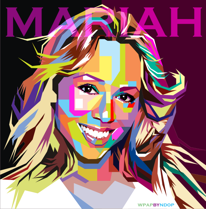 Mariah Carey Pop Art WPAP