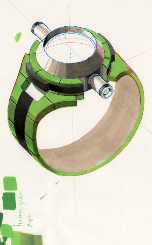final design of the omnitrix in ben 10 alien force cleaned marker