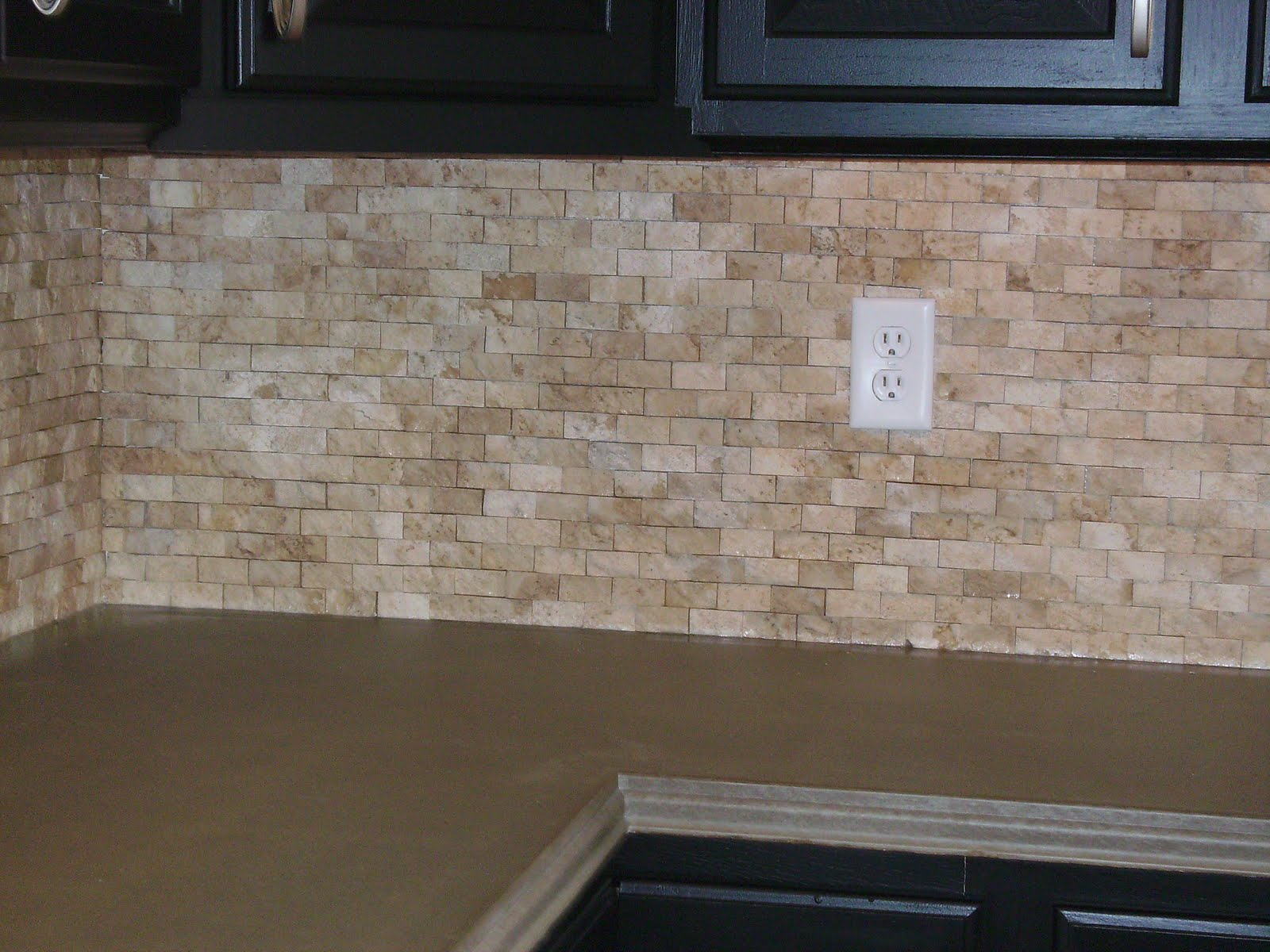 Knapp tile and flooring inc split faced stone backsplash - Kitchen backsplash tile ...