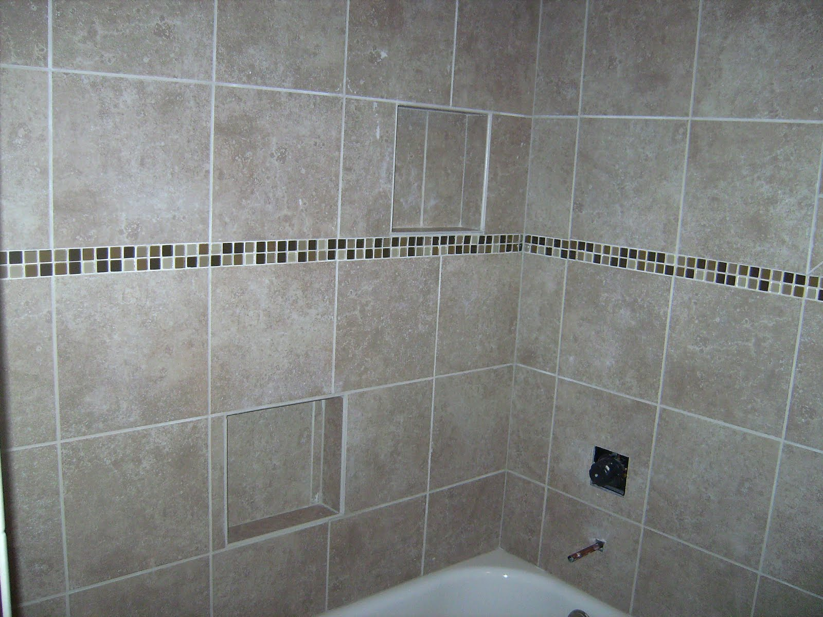 Knapp tile and flooring inc bathroom walls and tub surround for Tile shower surround