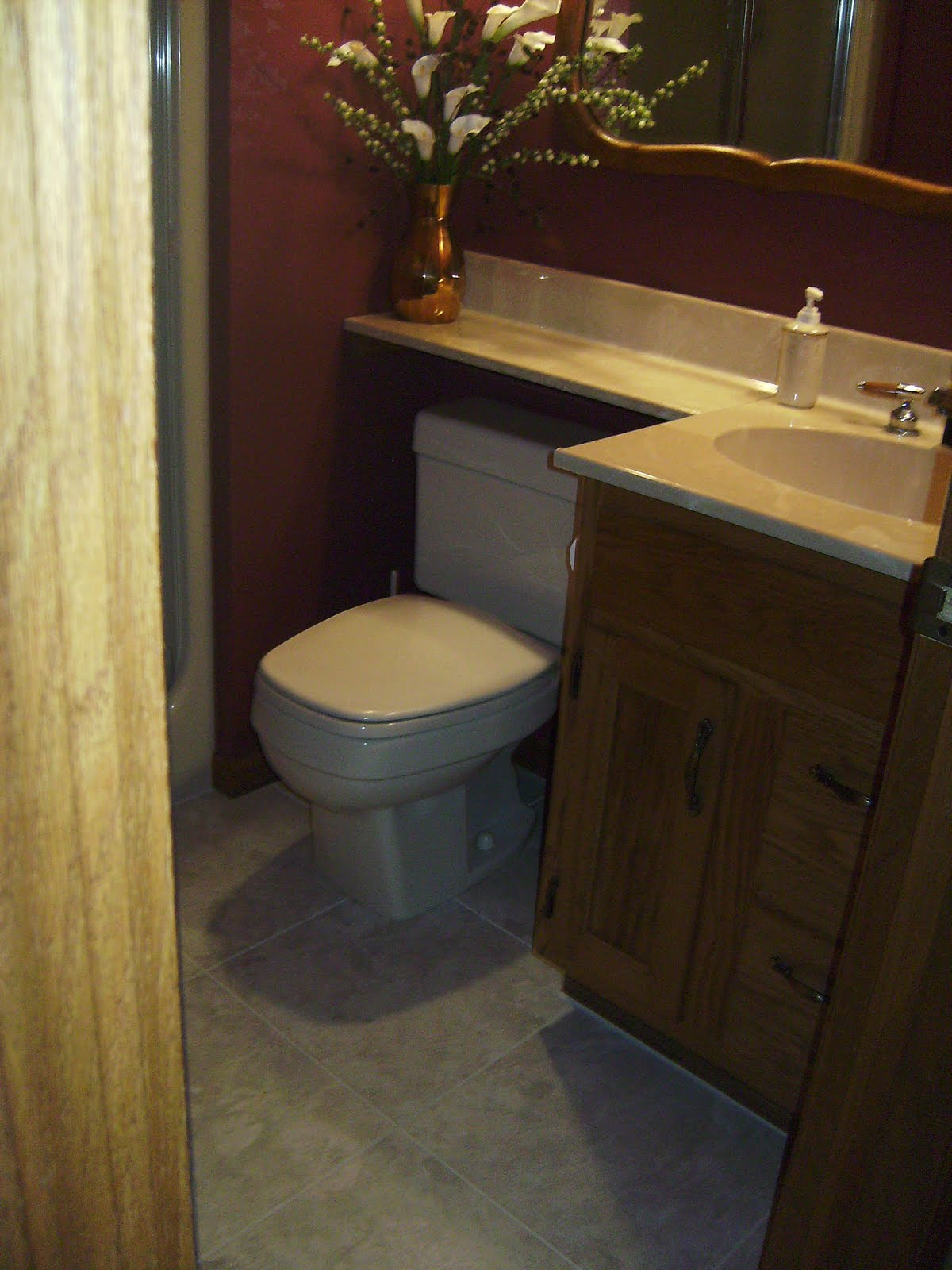 Knapp tile and flooring inc luxury vinyl tile bathroom for Vinyl floor tiles in bathroom