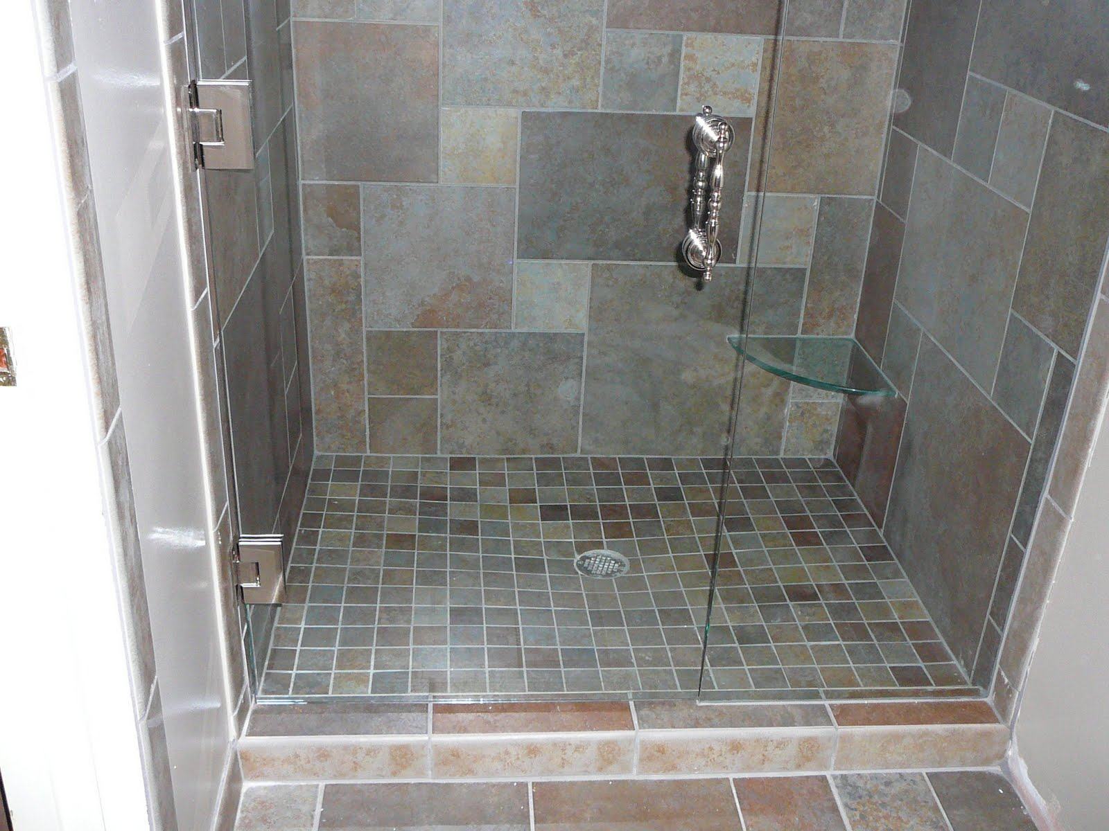 Knapp tile and flooring inc custom shower for Shower floor tile