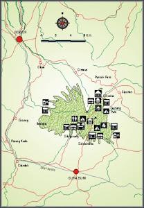 Map Gunung Gede Pangrango