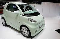 Un'auto elettrica rumorosa: la Smart della Brabus, che emette lo stesso suono di un motore 8 cilindri a V in stile americano.