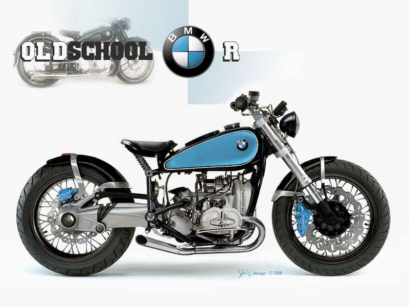 motorcycle 74 bmw oldschool bobber. Black Bedroom Furniture Sets. Home Design Ideas