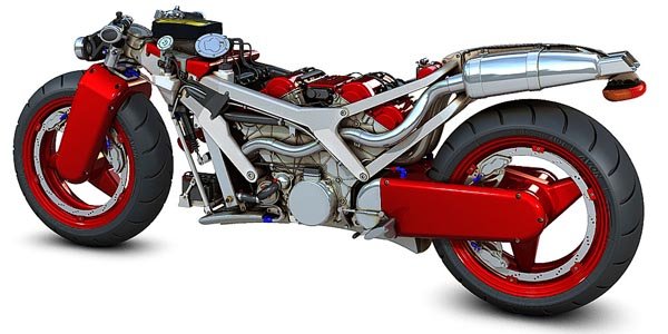 MOTORCYCLE 74  Ferrari V4   concept bike