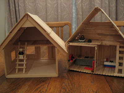 popsicle stick house step by step instructions