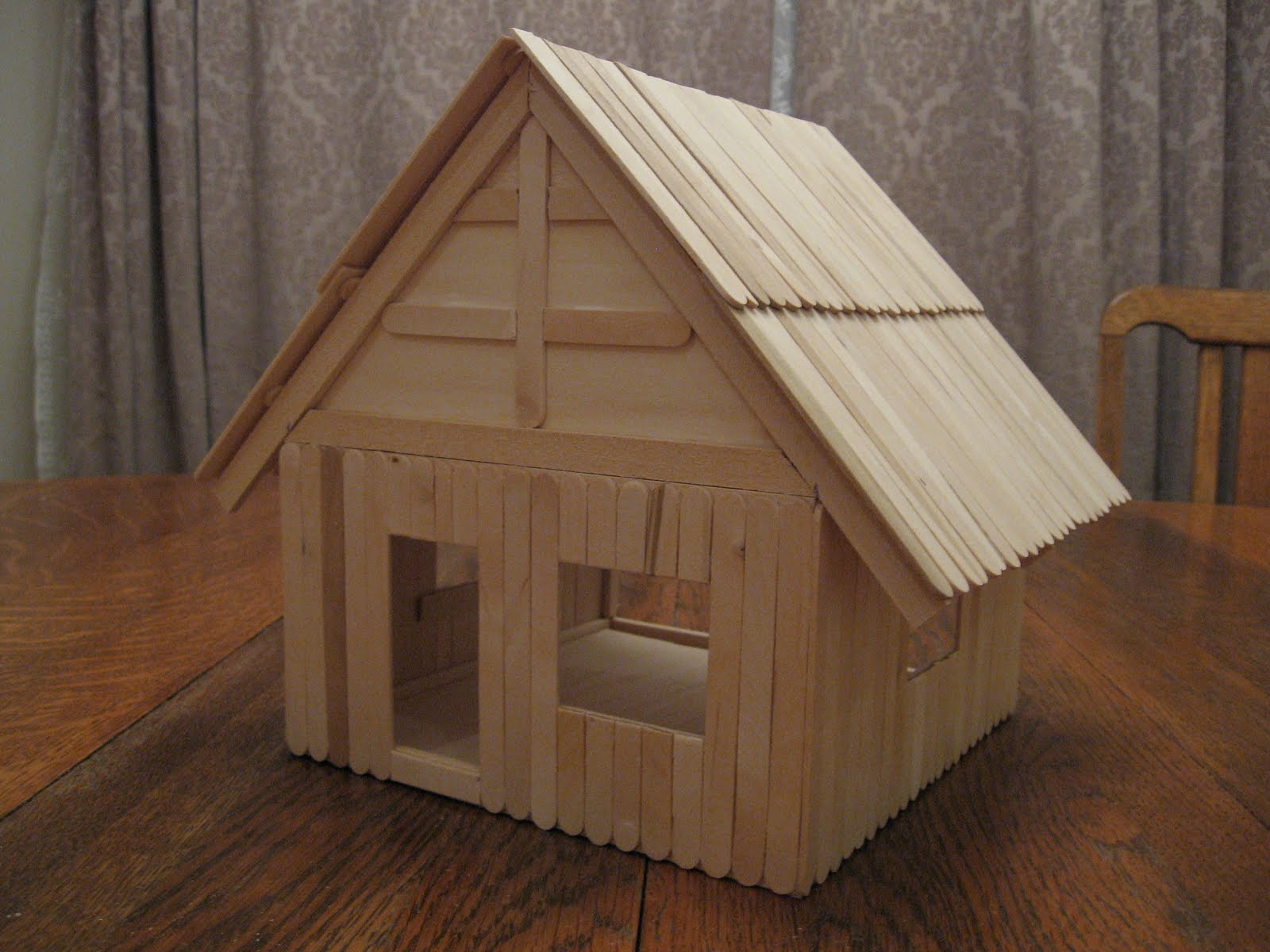 Almost Unschoolers Basswood And Popsicle Stick Doll House Man Of