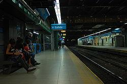 Vista de la estación Plaza Miserere de la línea A