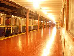 Vista de la estación Perú de la línea A