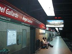 Vista de la estación Ángel Gallardo de la línea B