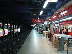 Vista de la estación Dorrego de la línea B