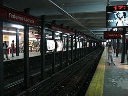Vista de la estación Federico Lacroze de la línea B