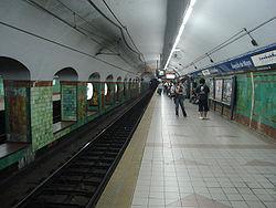 Vista de la estación Avenida de Mayo de la línea C