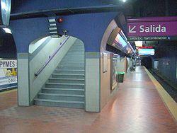 Vista de la estación Independencia de la línea E