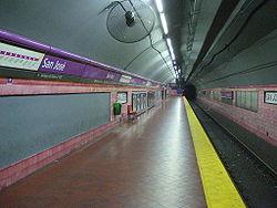 Vista de la estación San José de la línea E