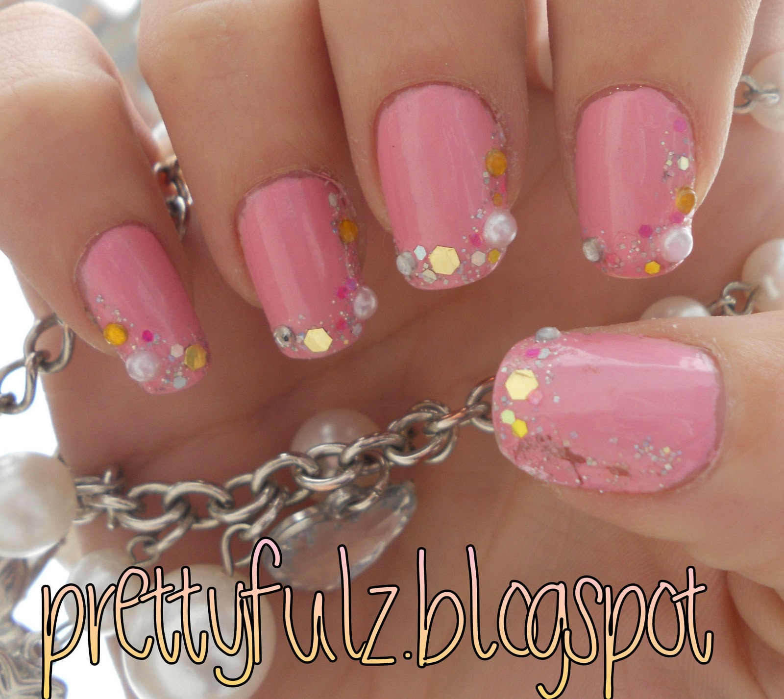 Prettyfulz Fall Nail Art Design 2011: Prettyfulz: PINK DECO NAIL ART DESIGN