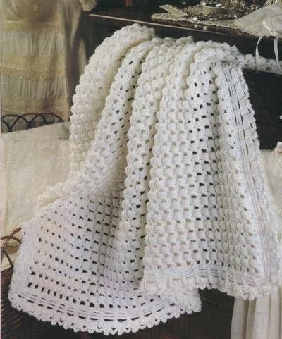 Mantitas para bebe tejidas a crochet - Mantas de ganchillo faciles ...