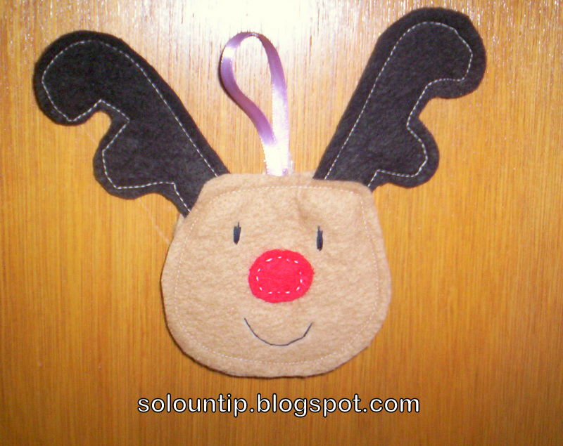 Como hacer un reno navide o - Renos de fieltro ...
