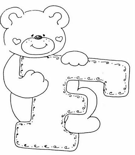 colorea el alfabeto abecedario infantil ositos abecedario para ...