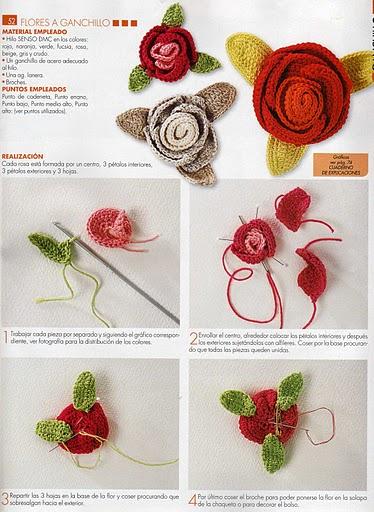 Rositas tejidas patrones a crochet