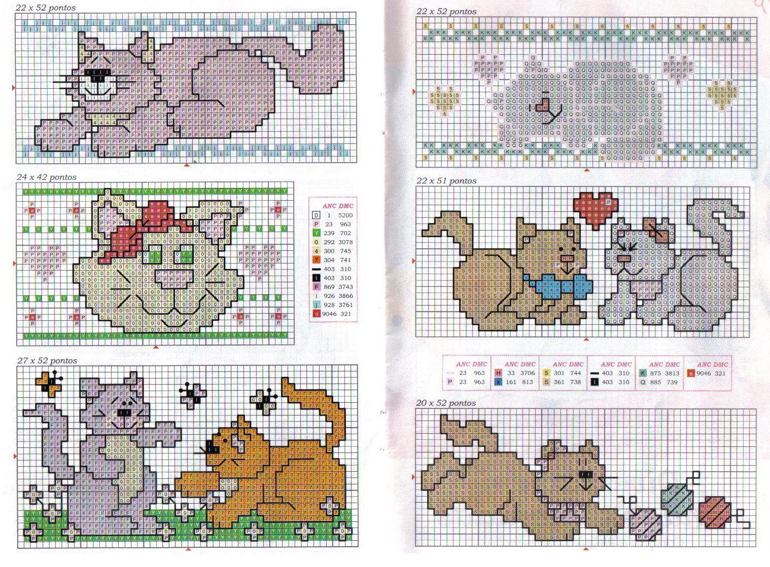 Animales punto de cruz patrones bebés - Imagui