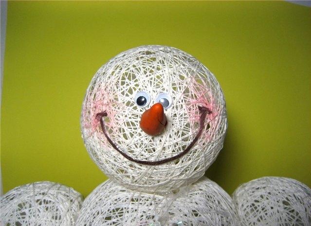 Como hacer un mu eco de nieve grande - Hacer munecos con globos ...
