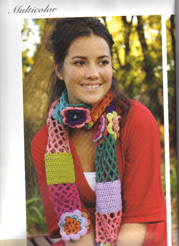 Bufandas de primavera a crochet