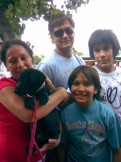 Leo nos vino a visitar con toda su familia
