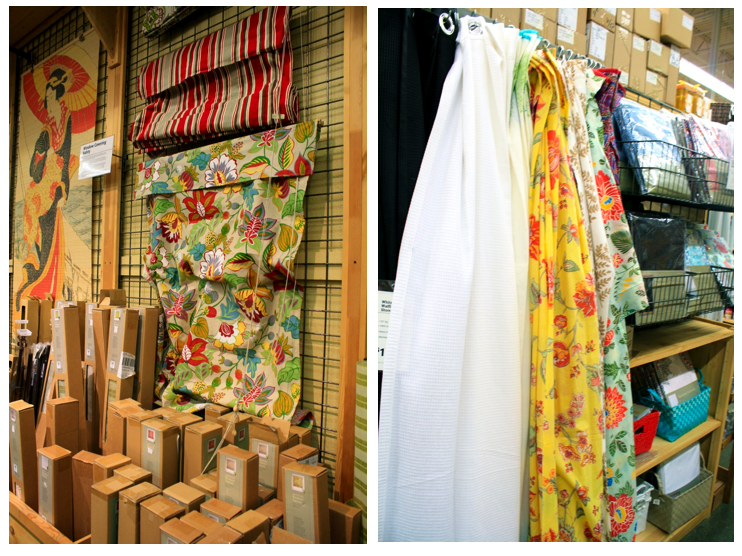 Great roman shades and shower curtains. - Shop Local - World Market - House Of Jade Interiors Blog
