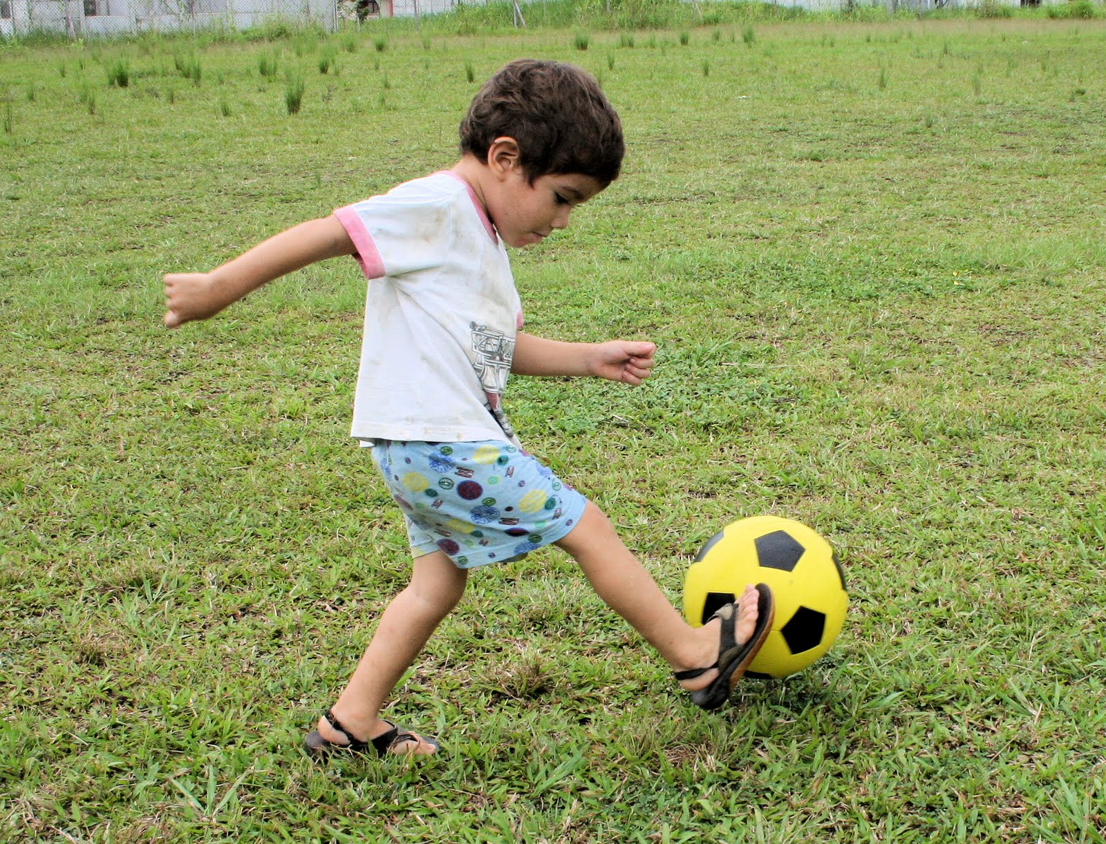 Playing soccer~kids at cocos