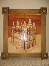 Salt Lake temple Intarsia