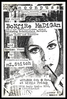 A Flyer For A Show I Did with Bonfire Madigan