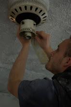 Tim Fixing the Fan