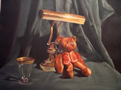 teddy bear painting