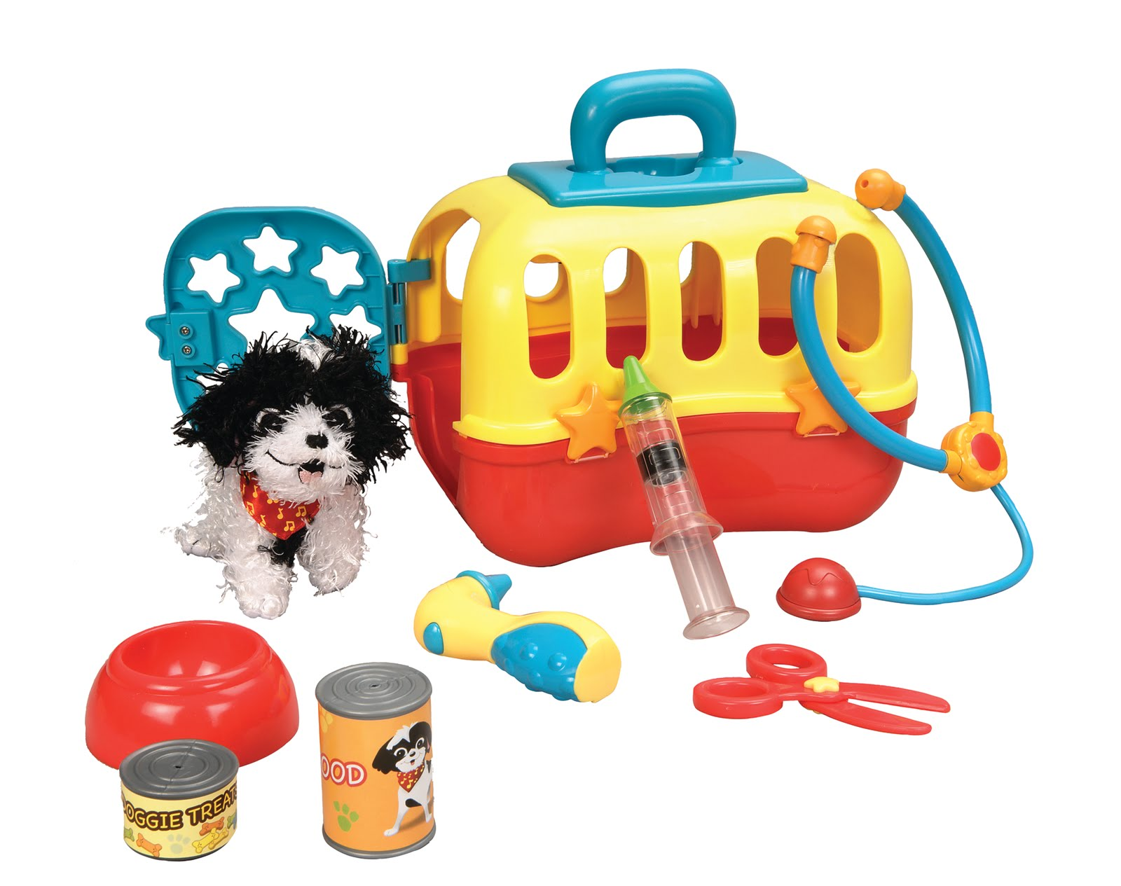 Baby Genius Plush Pet and Carrier Vet Care Set 9 Pieces Musical at Sears.com