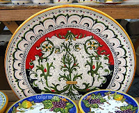 image of hand painted ceramic wall plates